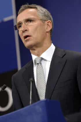 The Nato secretary general, Jens Stoltenberg.