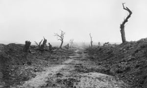 The aftermath of fighting near Guillemont in Somme, France, in September 1916.