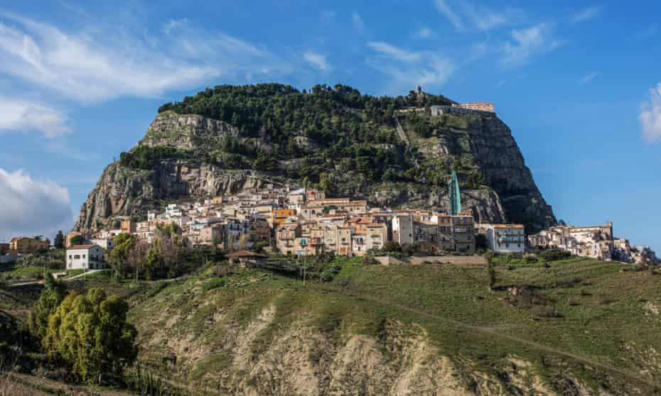 The village of Sutera in Sicily.