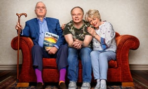 Phil (John Cleese), Roger (Jason Watkins and Edith (Alison Steadman)