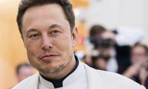 Elon Musk at the Met Gala in New York City on 13 June.