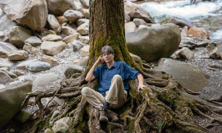 The tree as protagonist ... Richard Powers poses for a portrait in Great Smokeys National Park in Tennessee.
