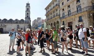 The old town in Havana, Cuba