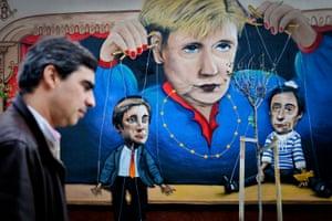 Graffiti of Angela Merkel in Lisbon