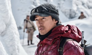 Rock solid … Wu Jing in The Climbers.