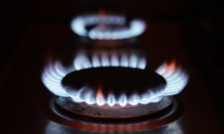 blue gas ring flames