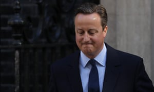 David Cameron speaking outside Number 10