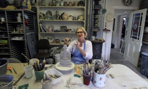 Charmaine Haines in her studio