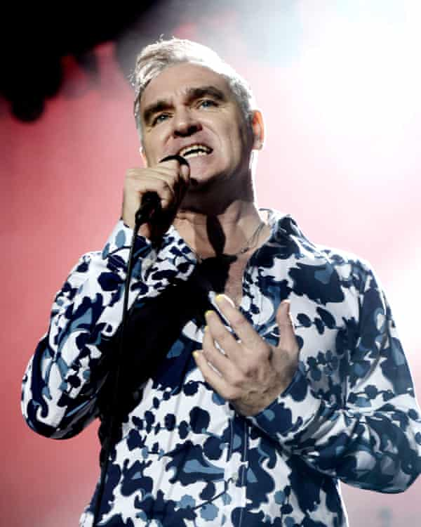 Morrissey performs at Hollywood High School in 2013