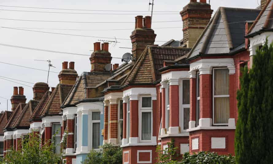 Houses in a London street