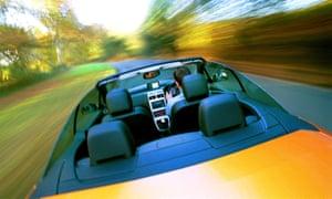 Peugeot 307CC on a test drive