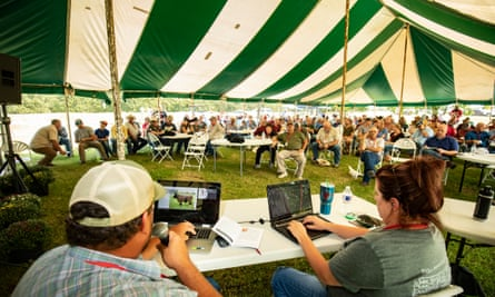 The South Poll Field Day in Copan, Oklahoma.