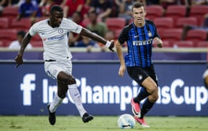 Antonio Rüdiger, left, in action here against Internazionale during pre-season, should prove an astute addition in defence.