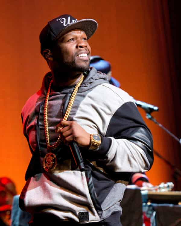 Rapper 50 Cent performing in New York.