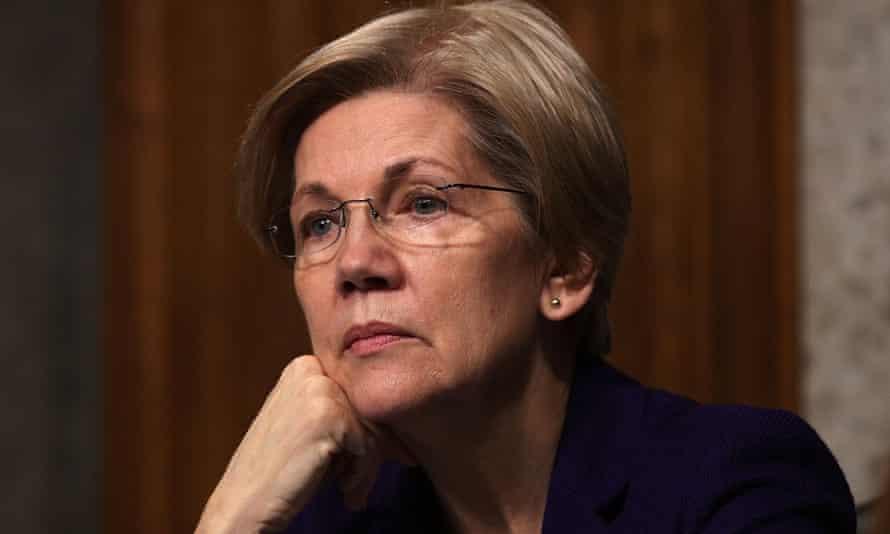 Elizabeth Warren listens during a hearing on Capitol Hill in Washington.