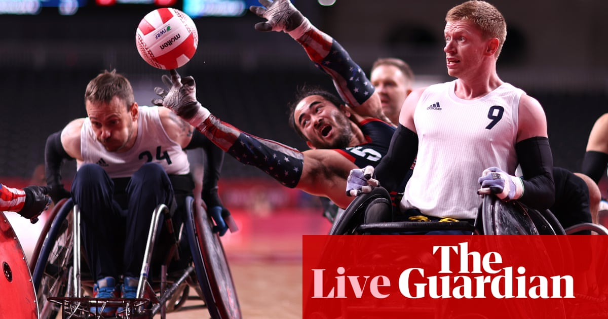 Tokyo Paralympics day five: athletics, swimming, wheelchair rugby – live!