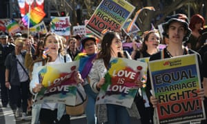 Supporters of marriage equality in Sydney