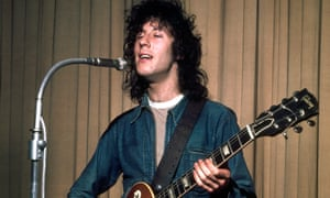 Peter Green as vocalist and lead guitarist with Fleetwood Mac in around 1969.