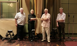 Reunited … from left, Paddy Kingsland, Roger Limb, Dick Mills and Peter Howell at the Maida Vale studios.