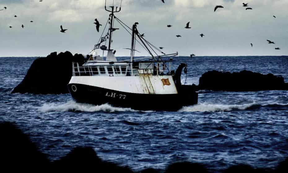 A fishing boat off Scotland's east coast