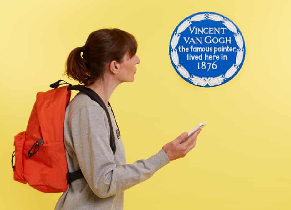 Zoe Williams with backpack and phone