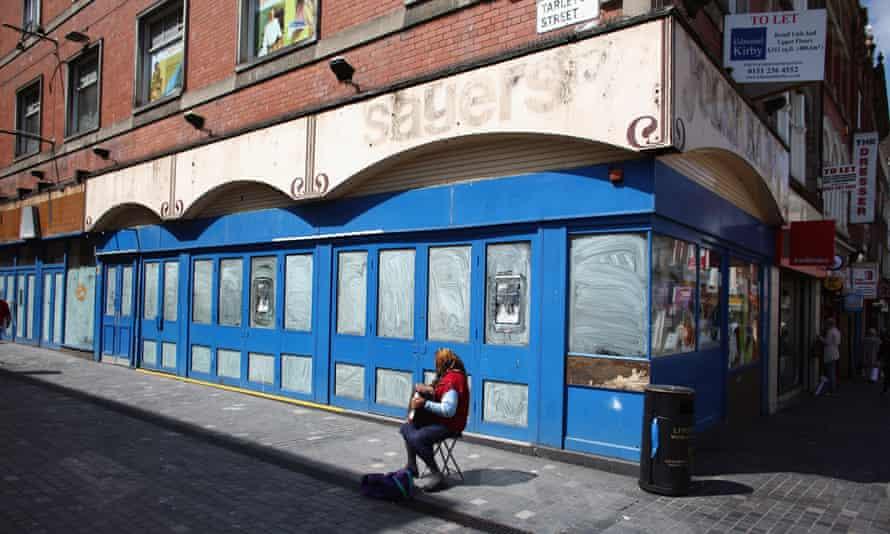 High street shop closed