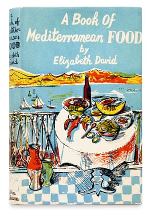 Cover of the book A Book of Mediterranean Food by Elizabeth David illustrated by John Minton.  Illustrator: John Minton