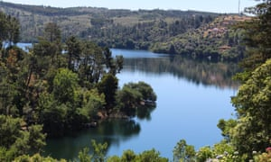 The lake from the garden of Quinta do Troviscal, Portugal