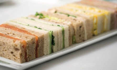 Claridge's tea sandwiches.