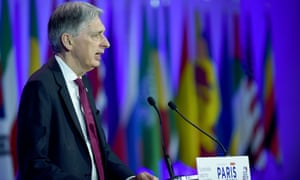 Philip Hammond addressing the Paris Forum at the Economy Ministry in Paris this morning.