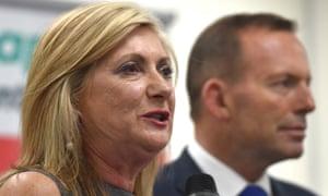 Sarina Russo and  Tony Abbott