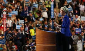 Elizabeth Warren speaks during day two of the Democratic national convention in Charlotte, North Carolina on 5 September 2012.