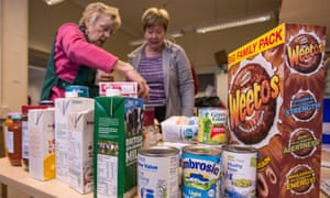 Volunteers at a food bank in Liverpool.