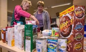 Volunteers at Trussell Trust food bank in Liverpool