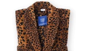 Leopard-print bathrobe at the Kimpton hotel