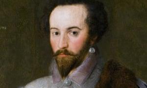 Portrait of Sir Walter Raleigh.