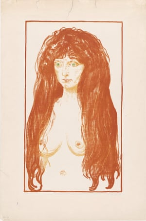 Woman with the Red hair and Green Eyes. Sin, 1902.