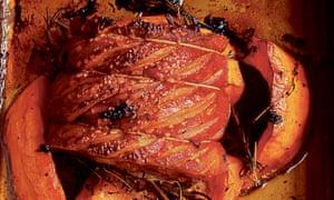 roast pork and pumpkin