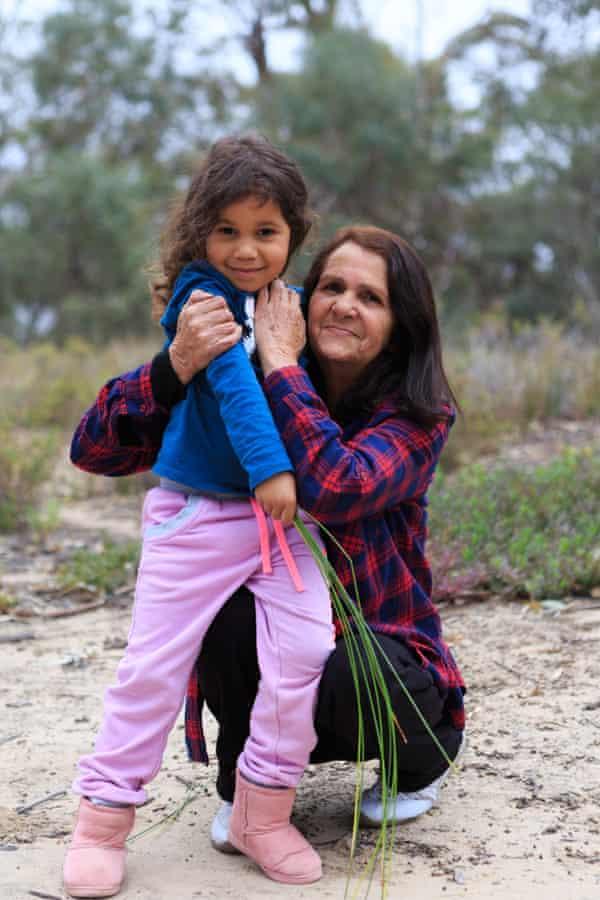 Yvonne Koolmatrie with her granddaughter Lurline in Berri, South Australia