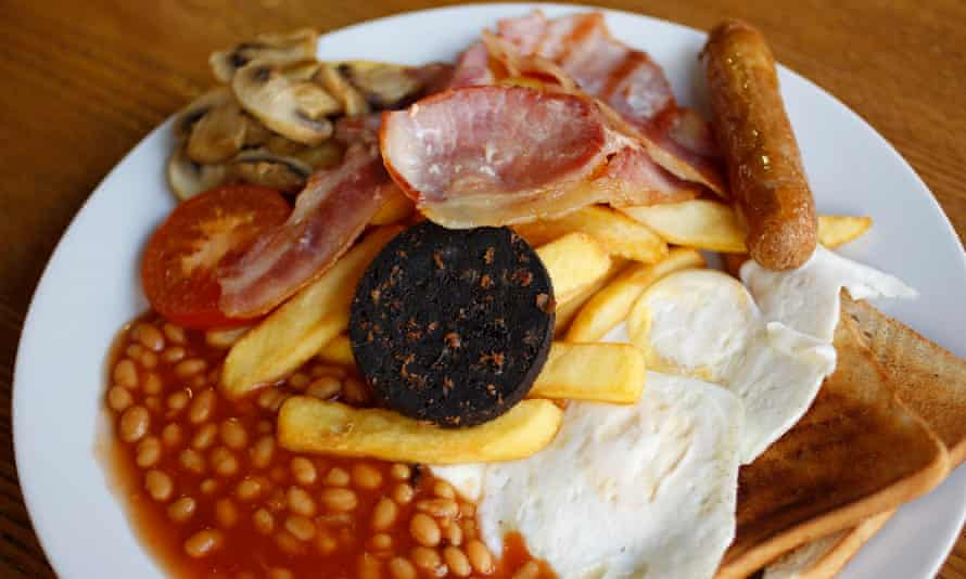 The traditional full English complete with black pudding