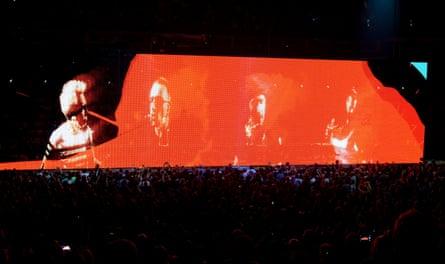 U2 on their Innocence + Experience tour.