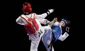Jade Jones in action against Taipei's Chia-ling Lo in May last year during the world championships in Manchester, where the 27-year-old won her first world gold medal.