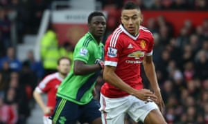 Jesse Lingard of Manchester United in action against Southampton at Old Trafford