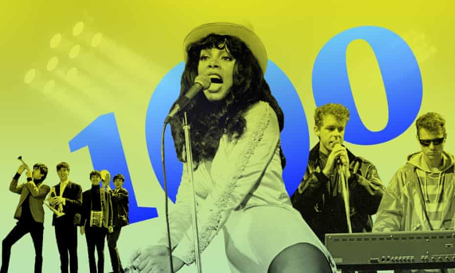 Chart-toppers … from left, the Beatles, Donna Summer, the Per Shop Boys.