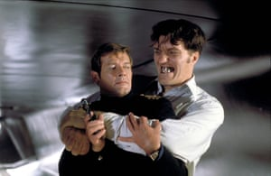 Roger Moore and Richard Kiel in The Spy Who Loved Me, 1977