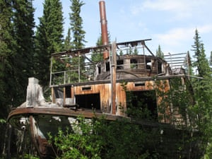 Remains of paddle steamer at Shipyard Island, Yukon, Canada.
