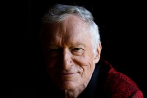 Hefner poses for a portrait at his Playboy Mansion in Los Angeles in 201