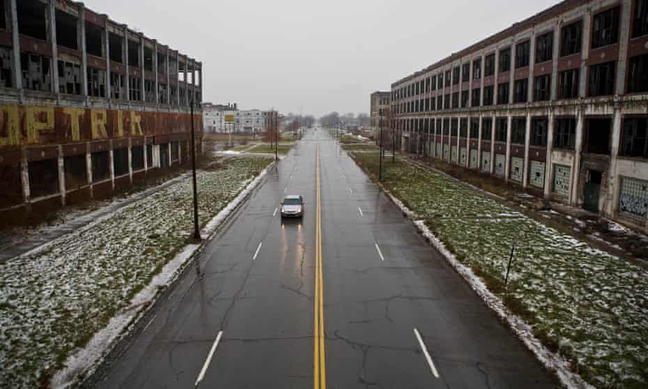 The streets of Detroit were designed to transport a population three times its current size.