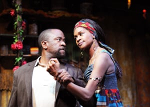 As Christian, with Jenny Jules as Mama Nadi, in Ruined at the Almeida in 2010