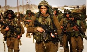 Israeli Defence Forces near the Gaza Strip, 2009.